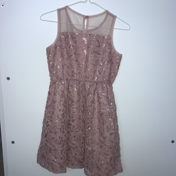 Justice Dusty Rose dress